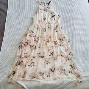 Torrid High Low Ruffle Maxi Dress Torrid Size 0